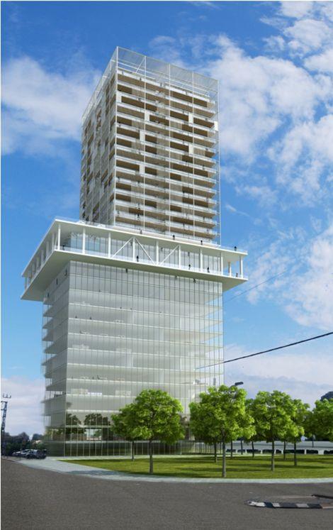 הדמיית הבניין; קרדיט: גוטמן אסיף אדריכלים