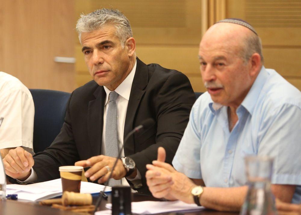 סלומיאנסקי ולפיד מתוך ועדת הכספים; דוברות הכנסת