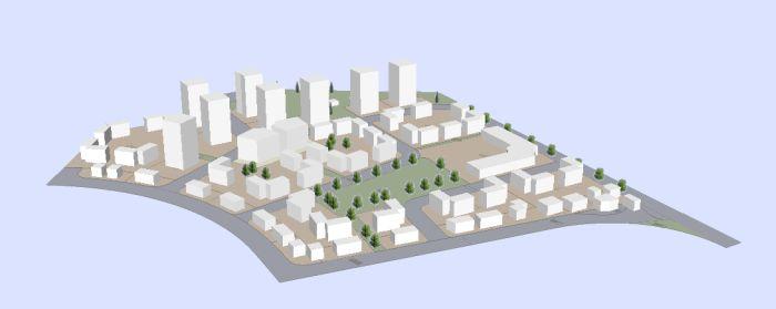 הדמיית השכונה; קרדיט: רשות מקרקעי ישראל