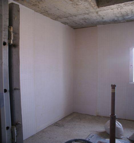 """החדר המוגן לאחר התקנת קירות גבס; קרדיט: יח""""צ"""
