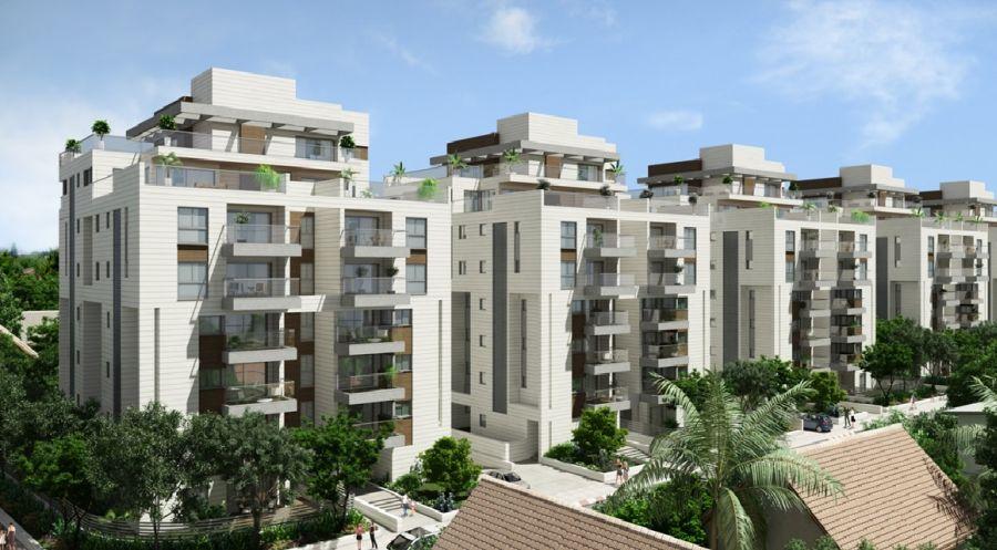 הדמיית הבניינים החדשים; קרדיט: עיריית קריית אונו