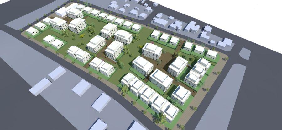 הדמיית השכונה; קרדיט: אדריכל גידי בר אוריין