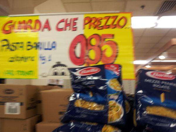 קילו פסטה ב-0.85 אירו