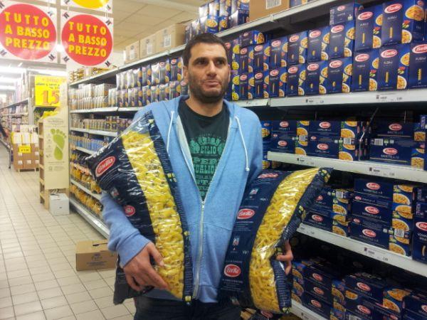"""חבילת פסטה """"בארילה"""" 5 קילו ב-5.9 אירו"""