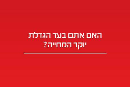 יוקר המחיה. ישראל היום
