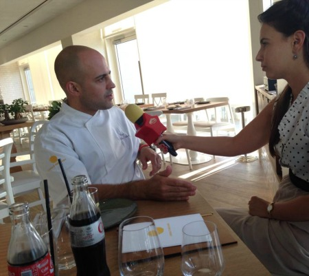 עם השף מאיר אדוני (צילום: ירדן סטפנסקי)