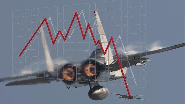 ירידות מטוס קרב