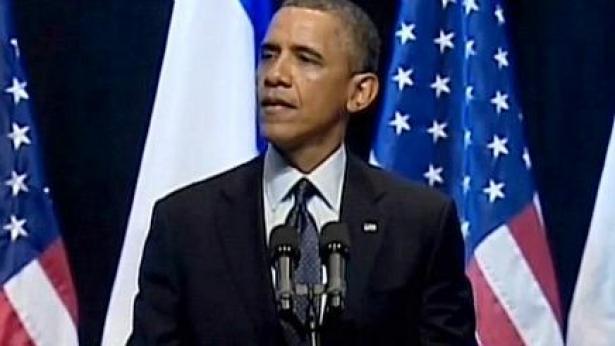 ברק אובמה בבנייני האומה, אתמול (צילום מסך), צילום מסך