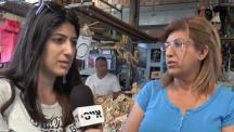 משאל רחוב בשוק הכרמל, על פרשת עמנואל רוזן (צילום: אייס TV), צילום: אייס TV