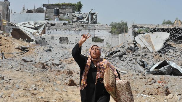 הריסות עזה, צילום: Getty images Israel