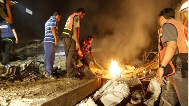 חיסול בית ברצועת עזה, צילום: Getty images Israel