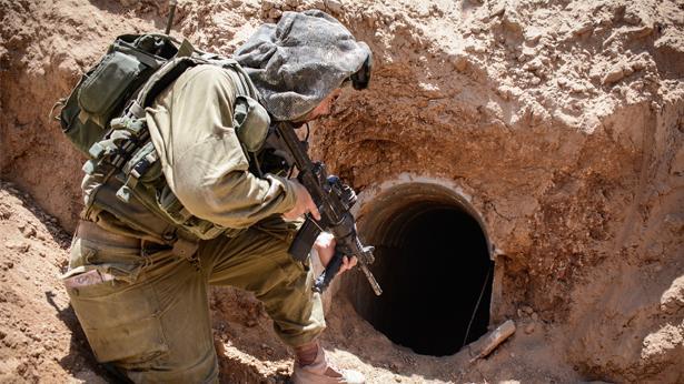 """מנהרת טרור, צילום: דובר צה""""ל"""