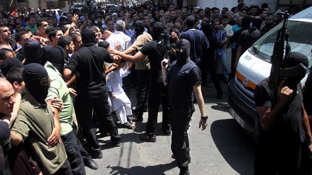 """סמוך להוצעה להורג ע""""י חמאס, צילום: Getty images Israel"""