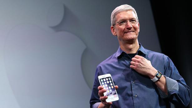 טים קוק בהשקת האייפון 6, צילום: Getty images Israel