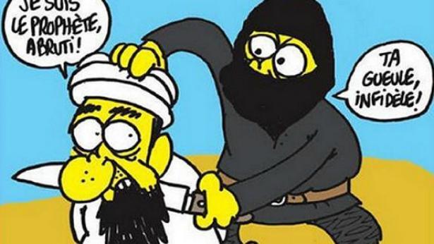 קריקטורה שפורסמה במגזין שארלי הבדו, צילום שער)