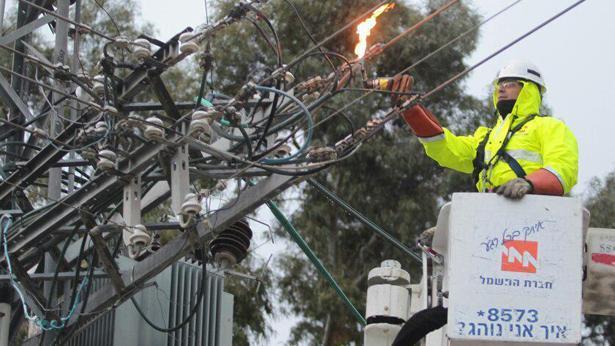 חברת החשמל סופה סערה, צילום: דוברות חברת החשמל