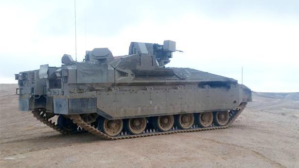 """נגמ""""ש הנמר עם מערכת מעיל רוח, צילום: באדיבות מנת""""ק במשרד הביטחון"""