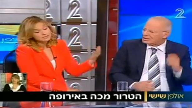 אהוד יערי ודנה ויס, צילום מסך: חדשות ערוץ 2