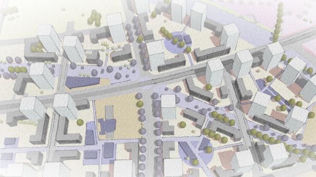 תכנית צריפין - הדמיה, צילום: הדמיה: מזור-פירשט אדריכלים ומתכנני ערים