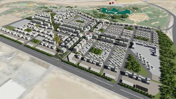 """הדמיה של שכונת """"פארק הנחל"""" בבאר שבע, צילום: מתוך הסרטון של רשות מקרקעי ישראל"""