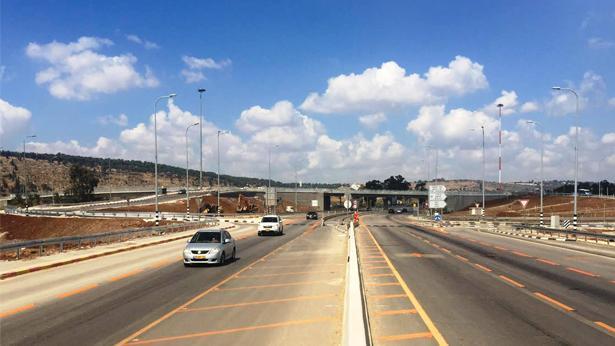 מחלף נבות גדעונה, כביש 71, צילום: חברת נתיבי ישראל