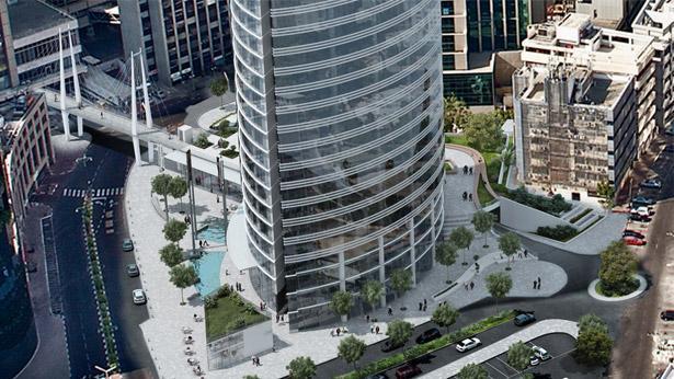 """מגדל ספיר ברמת גן, צילום: הדמיה: מילוסלבסקי אדריכלים בע""""מ"""