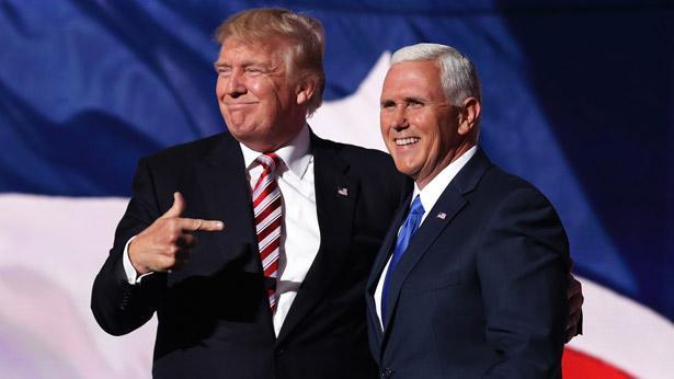 מייק פנס ודונלד טראמפ, צילום: גטי אימג'ס ישראל