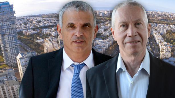 """יואב גלנט ומשה כחלון, צילום: יח""""צ; חיים צח, לע""""מ; גטי אימג'ס ישראל"""