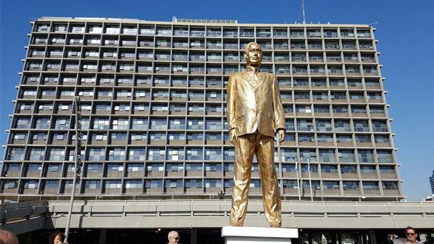 הפסל של בנימין נתניהו, צילום: Bizportal