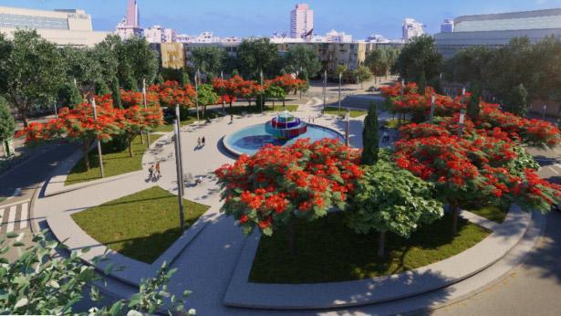 הדמיית כיכר דיזנגוף, צילום: עיריית תל אביב יפו