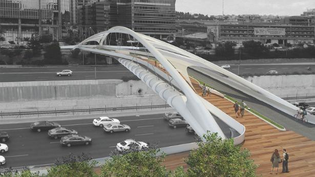 הדמיית גשר יהודית, צילום: חן אדריכלים