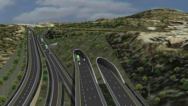 כביש 1, מנהרת הראל, צילום: משרד התחבורה