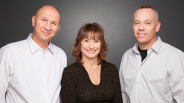 עופר אברם, שרון שוופי, איתי מל, צילום: נועה זני