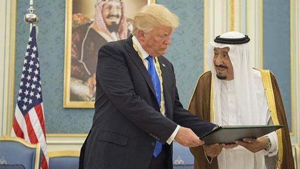 טראמפ והמלך סלמן, צילום: GettyImages IL