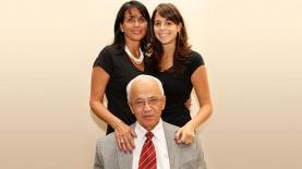 3 דורות: משה, דפנה וטל טריואקס, צילום: אלבום משפחתי