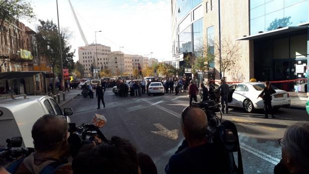 """פיגוע דקירה בירושלים, צילום: סוכנות הידיעות """"חדשות 24"""""""