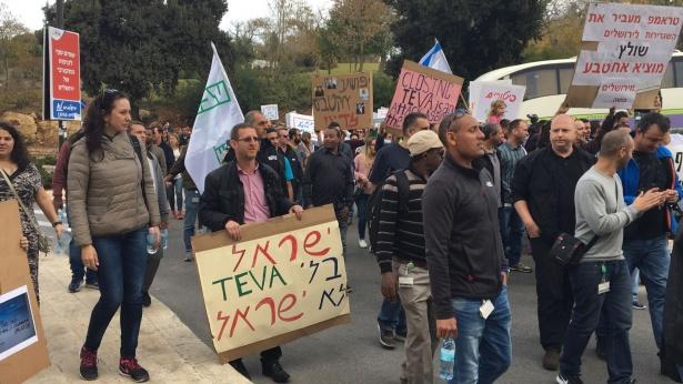 מחאת עובדי טבע בירושלים, צילום: דוברות ההסתדרות