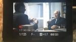 """רביב דרוקר מראיין את שמעון פרס ז""""ל בסדרת הדוקו 'הקברניטים', צילום: באדיבות ערוץ עשר"""