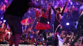 נטע ברזילי באירוויזיון בליסבון, צילום: Andres Putting, אתר האירוויזיון