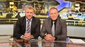 """אראל סג""""ל ושמעון ריקלין, צילום: ערוץ 20"""