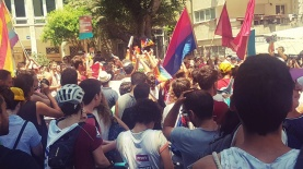 """מחאת הלהט""""ב נגד חוק הפונדקאות, צילום: מורן ישעיהו"""