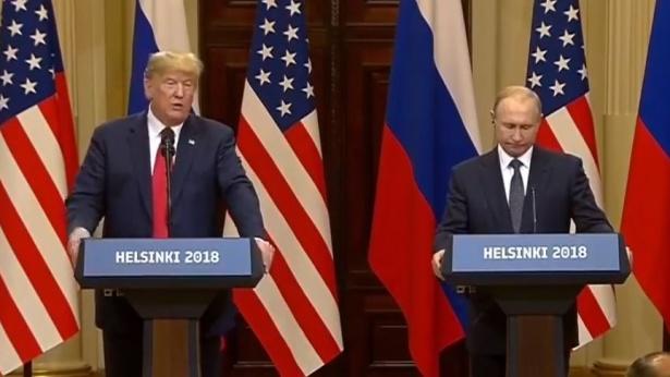 טראמפ פוטין, צילום מסך