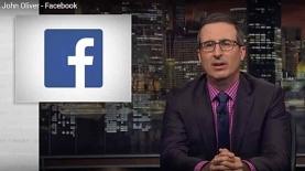 """ג'ון אוליבר נכנס בפייסבוק, צילום: יח""""צ/ צילום מסך"""