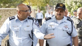 """סיור מפכ""""ל המשטרה רנ""""צ רוני אלשיך בירושלים, צילום: דוברות המשטרה"""