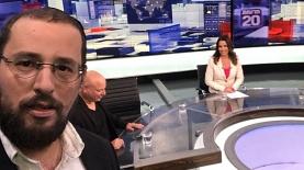 ישראל כהן באולפן חדשות ערוץ 20, צילום: מעמוד הפייסבוק של ישראל כהן