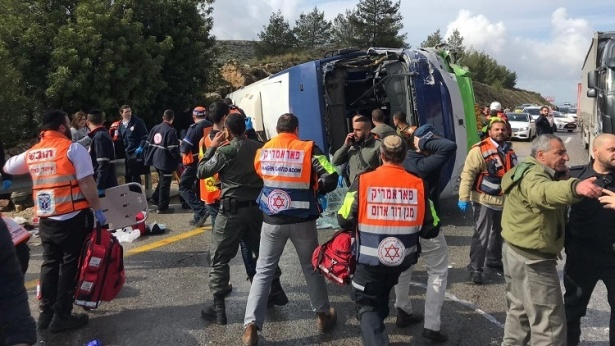 בית חורון תאונה, צילום: משטרת ישראל