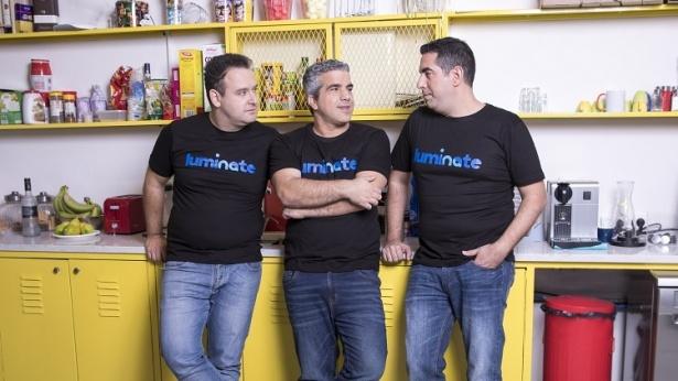 מייסדי לומינייט - אלדד לבני, עופר סמדרי וליאוניד בלקינד., צילום: איל מרילוס
