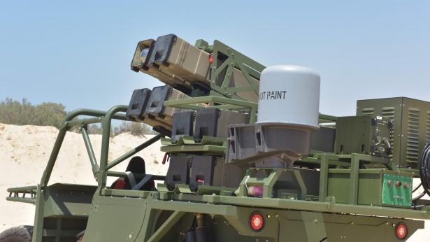 """שיגור ספייק ממשגר קל משקל, צילום: רפאל מערכות לחימה מתקדמות בע""""מ"""