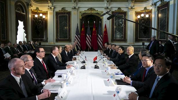 פגישת נציגי המסחר, צילום: בלומברג