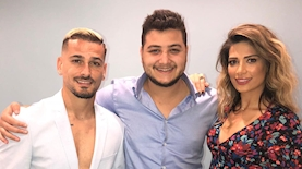 """שיר פינטו (במרכז) עם מאור ומירן בוזגלו, צילום: יח""""צ"""